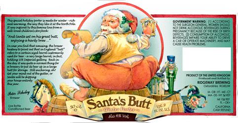 Пиво «Santa's Butt Porter» («Зад Санты»)