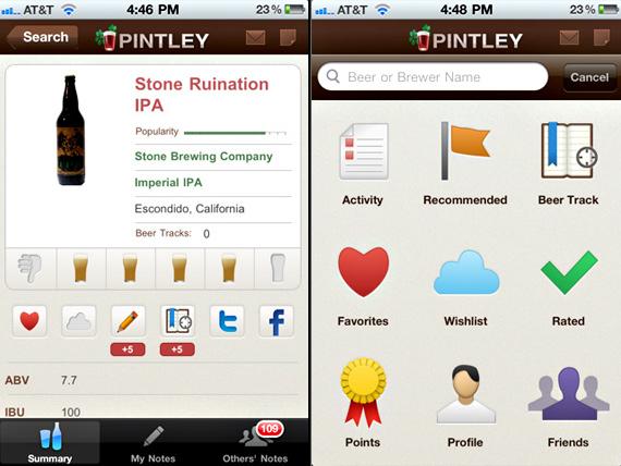 пивные приложения pintley