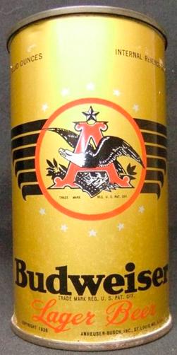 Budweiser пиво в жестяной банке