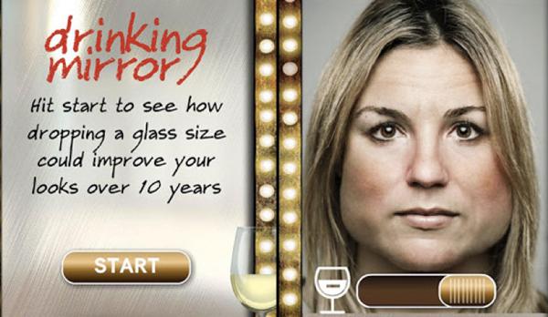 Drinking Mirror – приложение, которое покажет воздействие алкоголя на человека