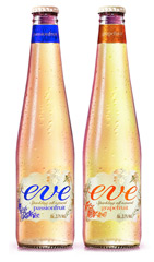 Фруктовый напиток с небольшим содержанием алкоголя, на пивной основе Eve