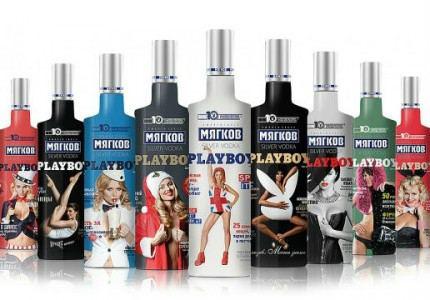 Синергия представила водку Мягков с моделями Playboy