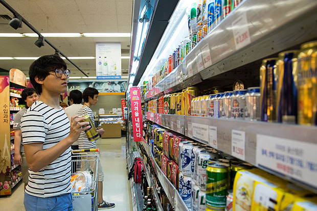 Потребление алкогольных напитков в Южной Корее