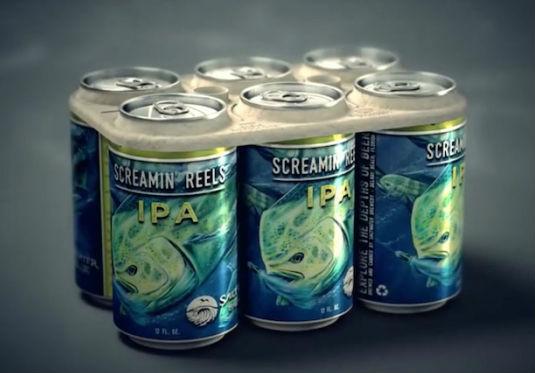 Съедобная упаковка для пива