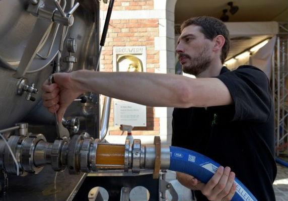 Пивопровод заработал в Бельгии