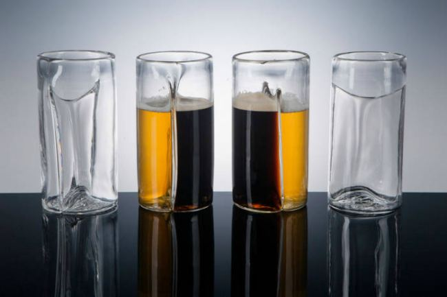 Креативные бокалы для пива - Dual Beer Glass