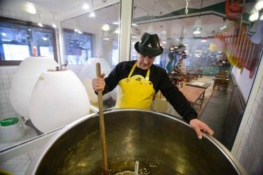Особое пиво из снега сварили в Ципе