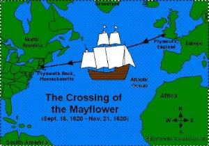 Путешествие Мейфлауэра из Англии в США