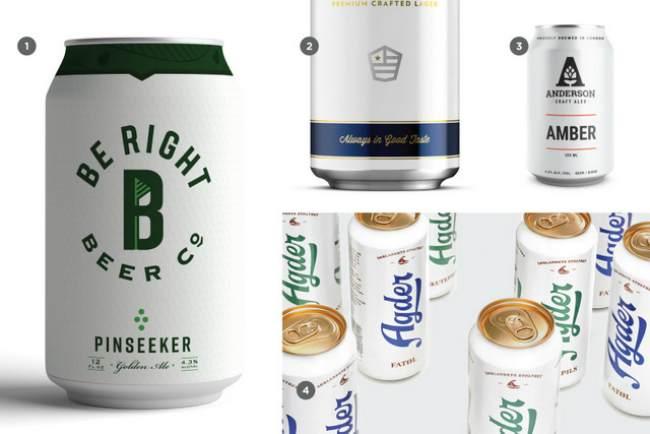 Ярко белый цвет в дизайне брендинга крафтового пива