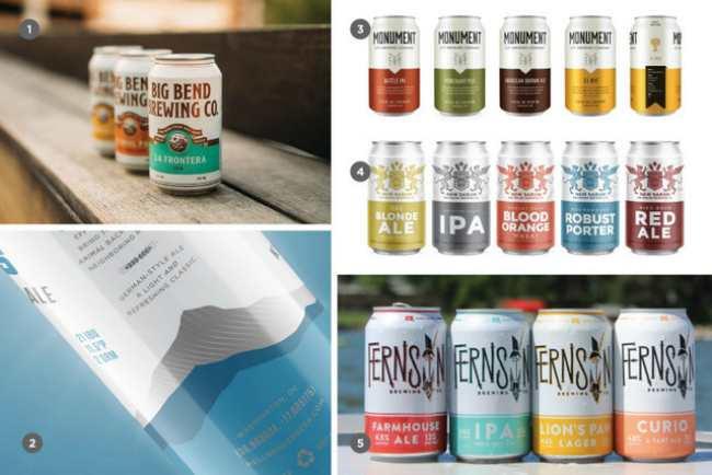 Тренды в цветовом исполнении упаковки крафтового пива